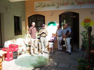 Besuch des Bioladens Zdravá jidelna Spirála